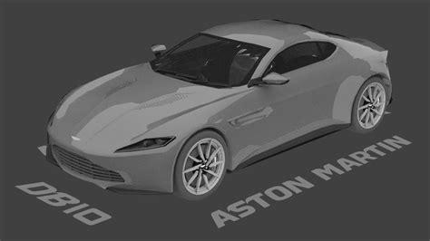 Aston Martin Db10 Speed Model Timelapse