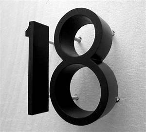 Cast metal house numbers ribbon deep font big metal for Black metal house letters