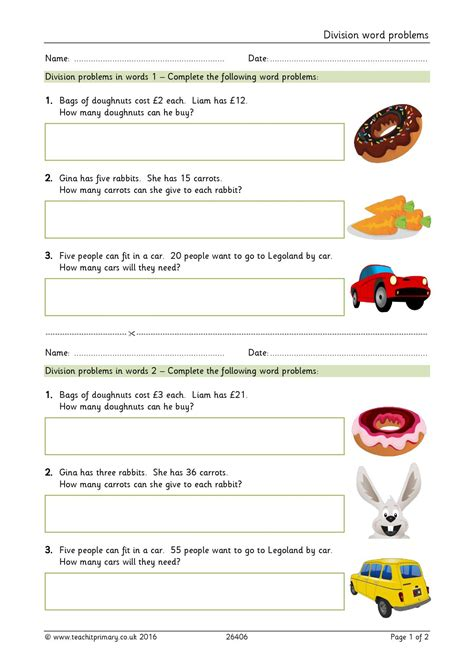 multiplication and division word problems ks2