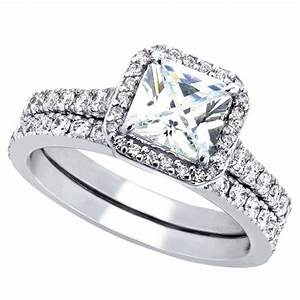 women39s cubic zirconia princess cut sterling silver With wedding rings for women images