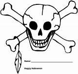 Coloring Skull Halloween Pages Skeleton Printable Printables Chief Indian Crossbones Skeletons Masks Bones Templates Sheets sketch template