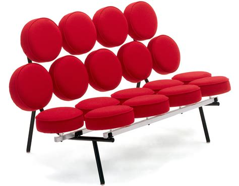 der rohe sofa george nelson marshmallow sofa hivemodern com