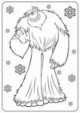 Coloring Yeti Bigfoot Printable Outline Drawing Cartoon Coloringoo Printables Smallfoot Drawings Boys Fun Popular Template sketch template