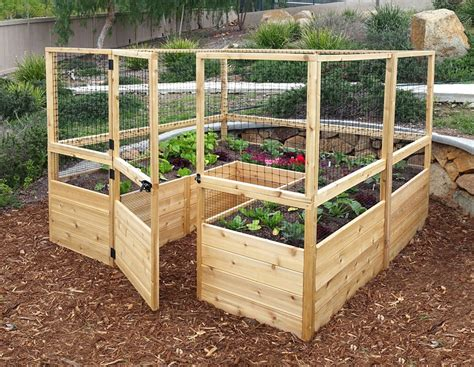 Elevated Garden Beds by Deer Proof Cedar Complete Raised Garden Bed Kit 8 X 8