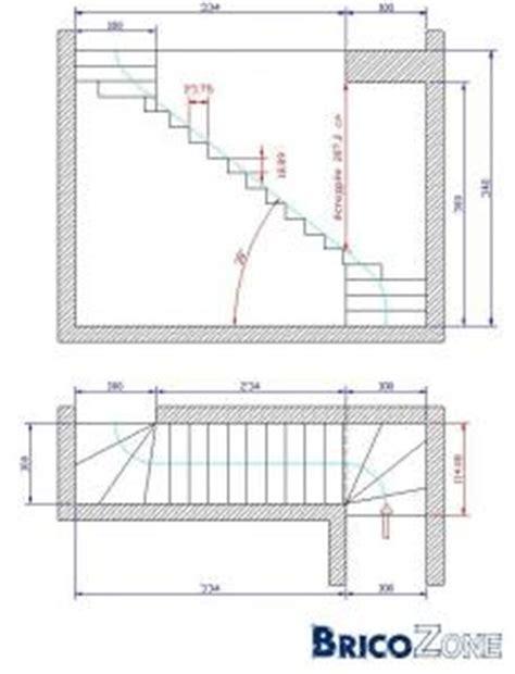 calcul escalier quart tournant haut et bas