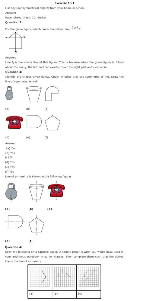 Ncert Solutions For Class 6 Maths Chapter 13  Symmetry  Aglasem Schools