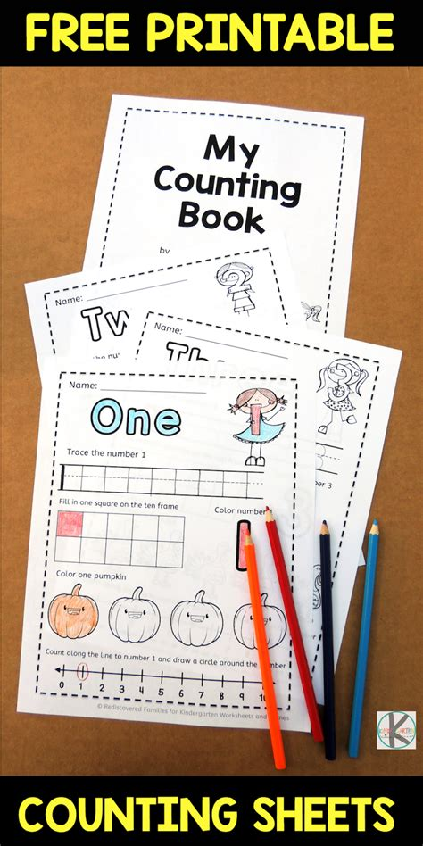 kindergarten worksheets  games  fall counting