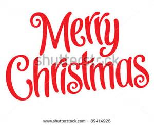 Fancy Words Merry Christmas Clip Art