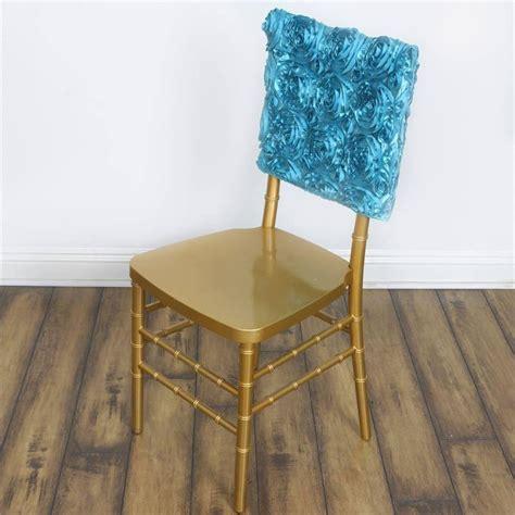 turquoise grandiose rosette chivari square top chair caps