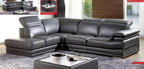 Gray Modern Sofa by Grey Genuine Italian Leather Modern Sectional Sofa