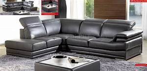 living room dark grey full genuine italian leather modern With genuine italian leather sectional sofa