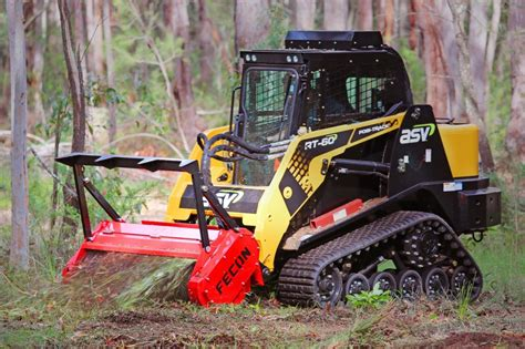 standard flow skid steer mulcher fecon forestry attachments