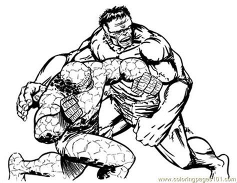 Thing Hulk1lores Coloring Page
