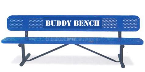 Buddy Bench by Buddy Bench Is One Way To Help Interact At School