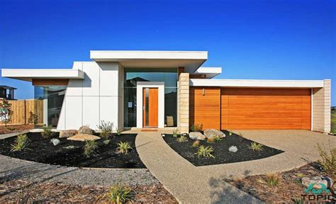 Flat Roof House Plans Design With Garage
