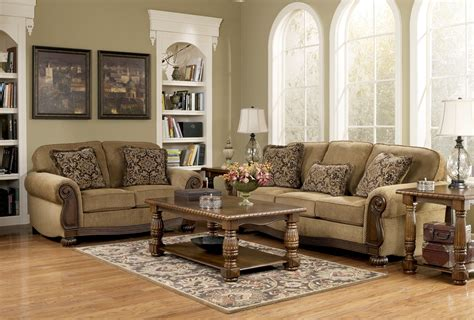 lynnwood traditional living room furniture set  ashley