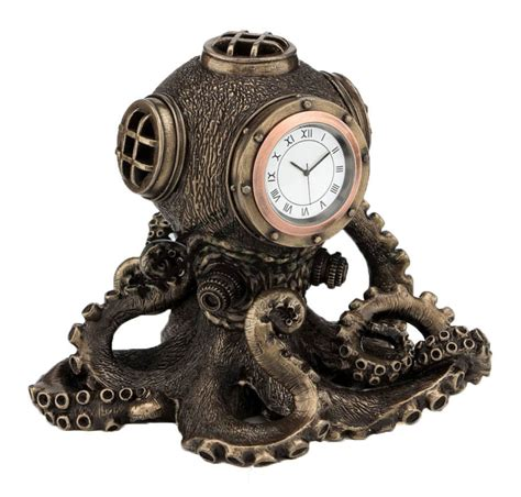steunk octopus diving bell clock sculpture nautical statue figurine ebay