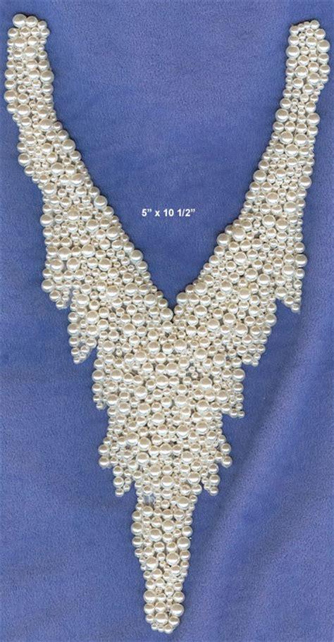 pearl beaded applique glitz  glamour