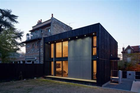chambre sous sol so 39 bois cube 45 maison contemporaine bois