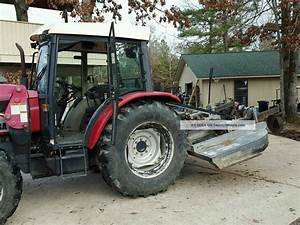 2008 Mahindra 7010 70hp 4x4 Cab Tractor With Front End Loader And 8ft Bush Hog