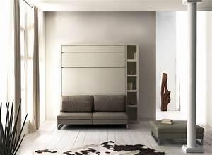 meuble lit autoporteur loft avec canape en couchage 140 With meuble combiné canapé lit bureau armoire