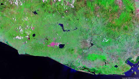 el salvador map  satellite image