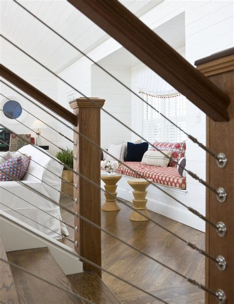 wire banister cable railing indoor staircase interior decor cable
