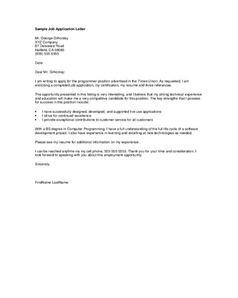 general application letter template fillable
