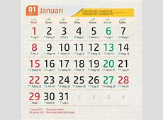 Template kalender 2017 Photoshop Corel Adobe Illustrator