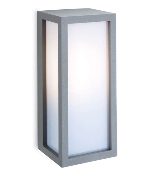 exterior wall box light with opal diffuser
