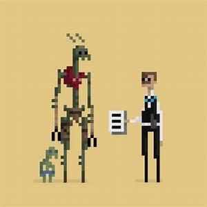 Raster Design 8 Bit Pixel Gifs By Dusan Cezek Animate Famous Movie