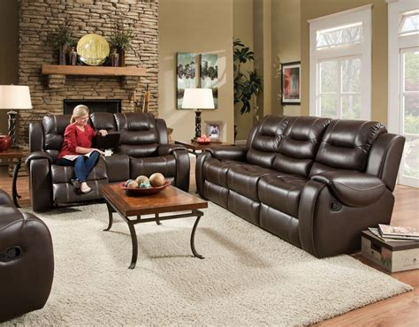 Loveseat And Ottoman by Italian Leather Softie Oxblood Glider Reclining Sofa And