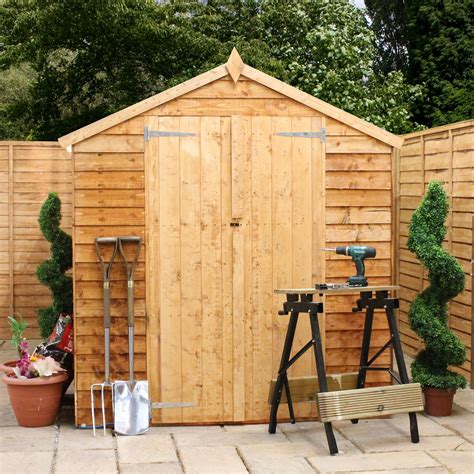 shed windows uk 10 x 6 overlap apex shed with doors with
