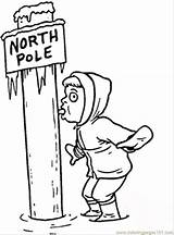 Pole North Coloring Pages Ice South Sticky Sheets Poles Printable Coloringpages101 Getcolorings Popular sketch template