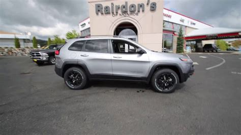 jeep grand cherokee trailhawk silver 2017 jeep cherokee trailhawk billet silver hw665490