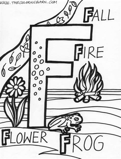 Coloring Letter F by Letter F Coloring Pages Only Coloring Pages