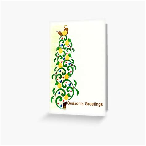 """Many of our pear trees are cold hardy to zone 3a. """"Season's Greetings - Partridge in a Pear Tree - Christmas - Card"""" Greeting Card by Meowkittykat ..."""