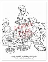 Coloring Thanksgiving Feast Coloringbook sketch template