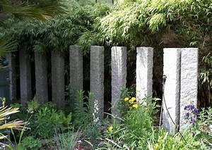 Bambus Sichtschutz Pflanzen : natursteinpalisaden als sichtschutz ~ Yasmunasinghe.com Haus und Dekorationen