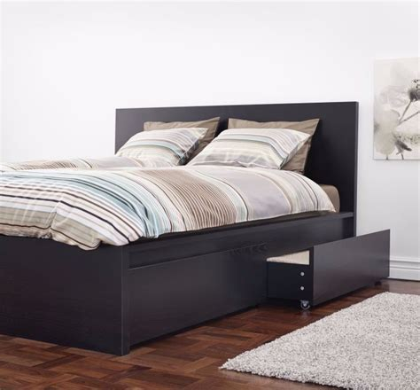 Malm Bed Frame by Black Brown Ikea Malm Bed Frame With 2 Storage Boxes