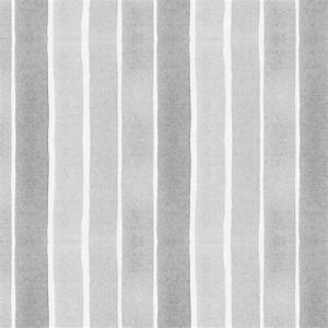 Gray Watercolor Stripe Fabric by the Yard Gray Fabric
