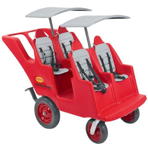 angeles 4 seat bye bye wheel preschool buggy 363   1 naked w canopy