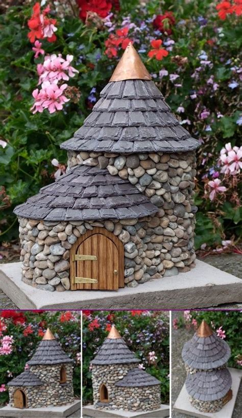 diy miniature stone fairy house tutorial fairy garden