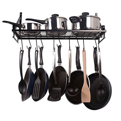 Kitchen Wall Rack Pots Pans by Kitchen Pot Pan Rack Wall Mount Organizer Storage Holder