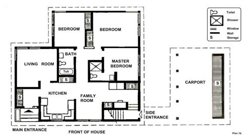 small  bedroom house plans  bedroom house simple plan