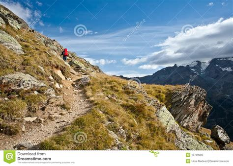 Direction Signs Alpine Hikes Alps Switzerland Stock Photo Hiking In Swiss Alps Stock Photo Image 19739990