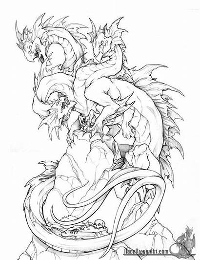 Dragon Drawings Fantasy Coloring Neondragonart Pages Pet