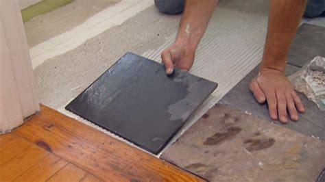 installing tile over vinyl flooring today s homeowner