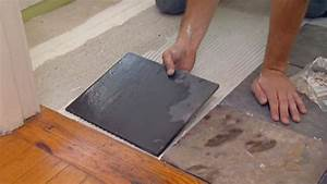 Install tile over linoleum tile design ideas for How to tile over existing floor tiles