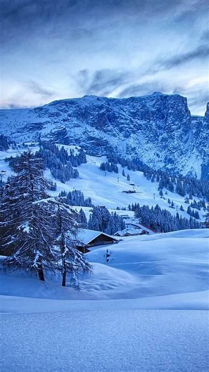 Nature Winter Snow Mountain Ski Iphone Wallpapers